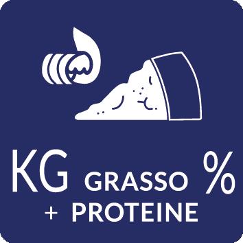 KG e percentuali grasso proteine