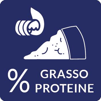 Percentuale grasso proteine